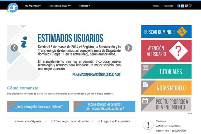 Registrar un dominio .com.ar costará $ 160